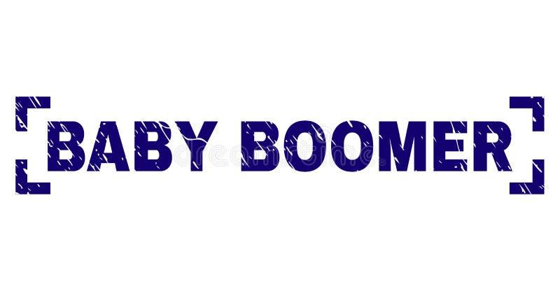 Guarnizione strutturata del bollo del FIGLIO DEL BABY BOOM di lerciume dentro gli angoli royalty illustrazione gratis
