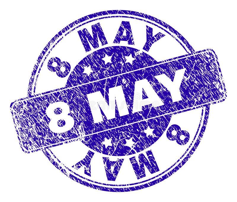 Guarnizione strutturata graffiata del bollo dell'8 maggio royalty illustrazione gratis