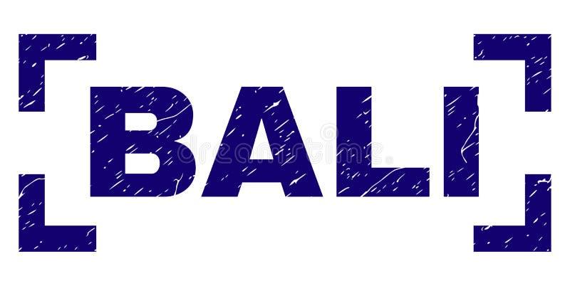 Guarnizione strutturata graffiata del bollo di BALI fra gli angoli illustrazione vettoriale