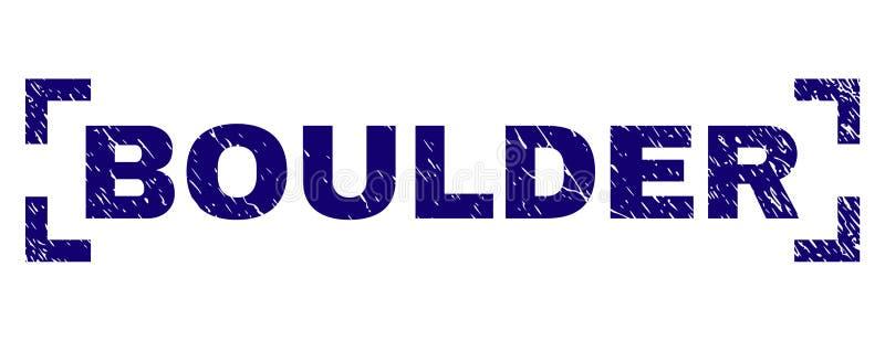 Guarnizione strutturata graffiata del bollo di BOULDER fra gli angoli illustrazione di stock