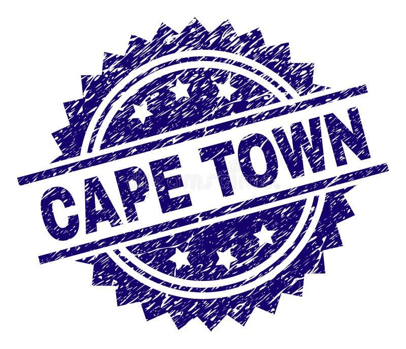 Guarnizione strutturata graffiata del bollo di CAPE TOWN royalty illustrazione gratis