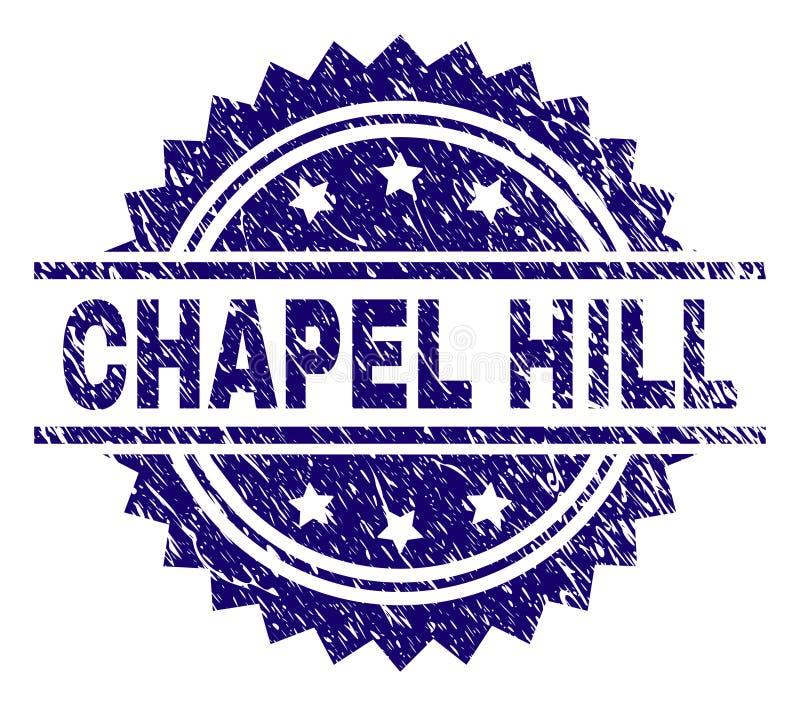 Guarnizione strutturata graffiata del bollo di CHAPEL HILL illustrazione di stock