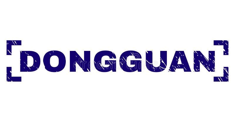 Guarnizione strutturata graffiata del bollo di DONGGUAN dentro gli angoli royalty illustrazione gratis