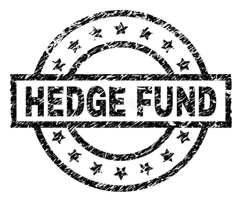 Guarnizione strutturata graffiata del bollo di HEDGE FUND illustrazione di stock