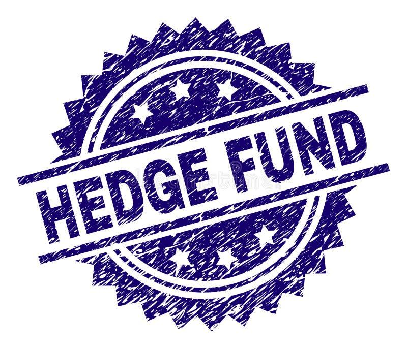 Guarnizione strutturata graffiata del bollo di HEDGE FUND royalty illustrazione gratis