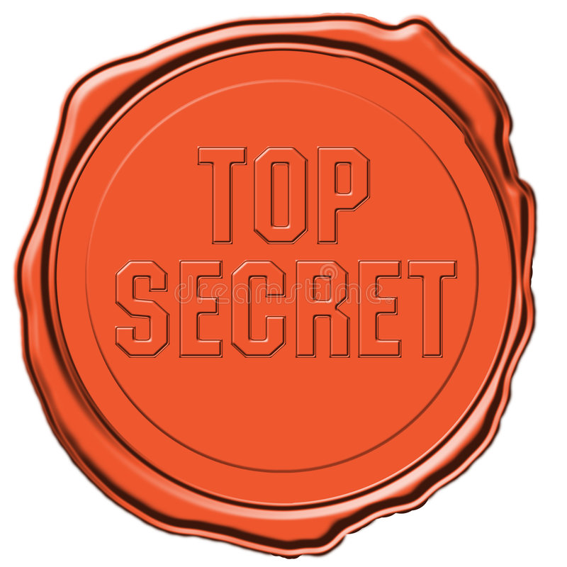 Guarnizione top-secret royalty illustrazione gratis