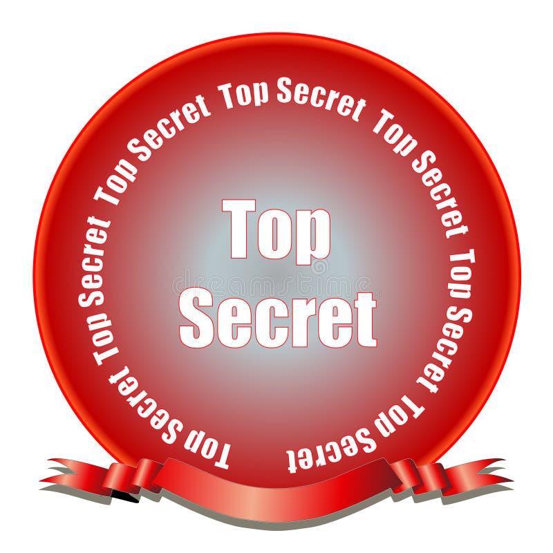 Guarnizione top-secret illustrazione di stock