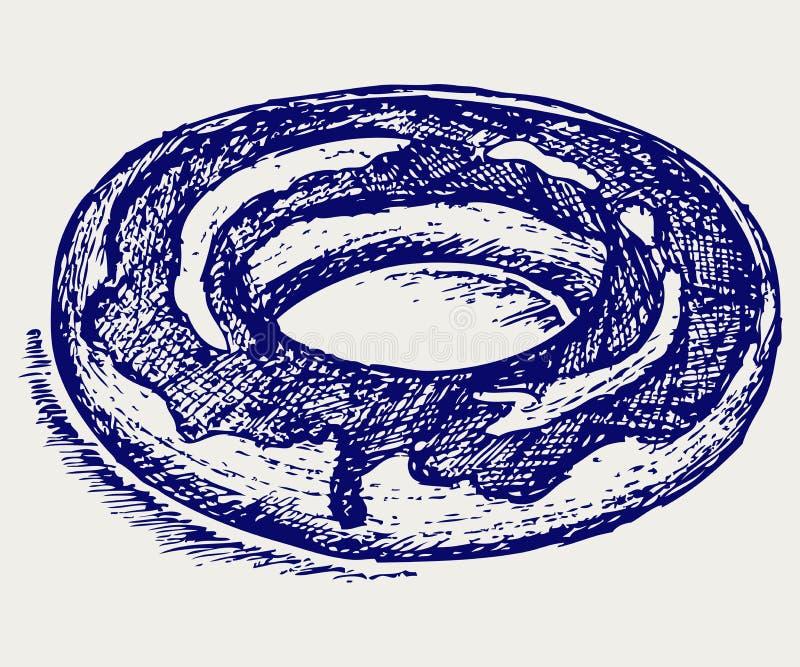 Guarnizioni di gomma piuma del cioccolato illustrazione vettoriale