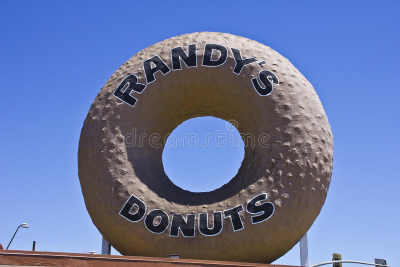 Guarnizioni di gomma piuma di fama mondiale di Randys fotografia stock libera da diritti