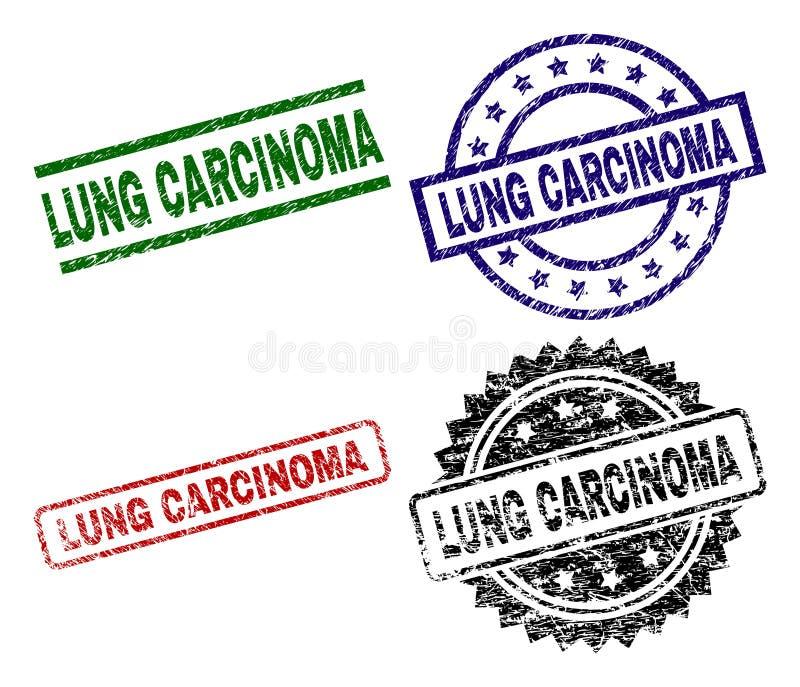Guarnizioni strutturate graffiate del bollo di CARCINOMA del POLMONE royalty illustrazione gratis