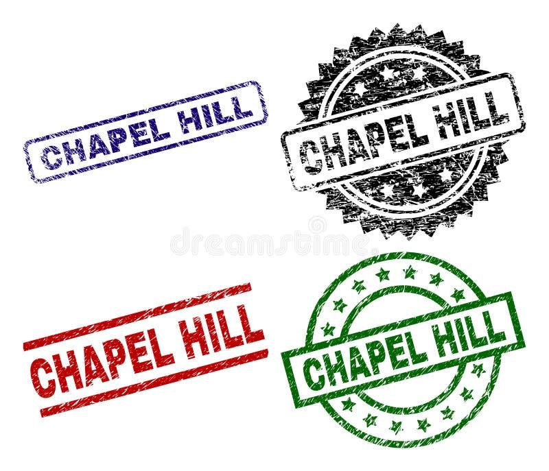 Guarnizioni strutturate nocive del bollo di CHAPEL HILL royalty illustrazione gratis