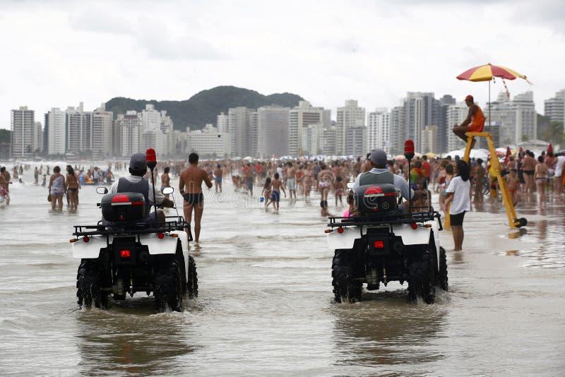 Guaruja,圣保罗,巴西 免版税图库摄影