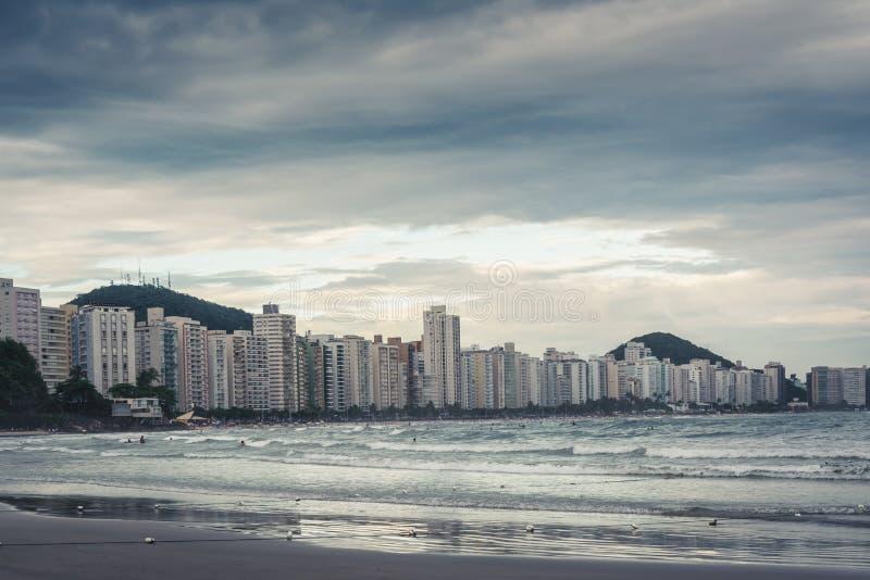 Guaruja, Asturias i Pitangueiras plaża, zdjęcia stock