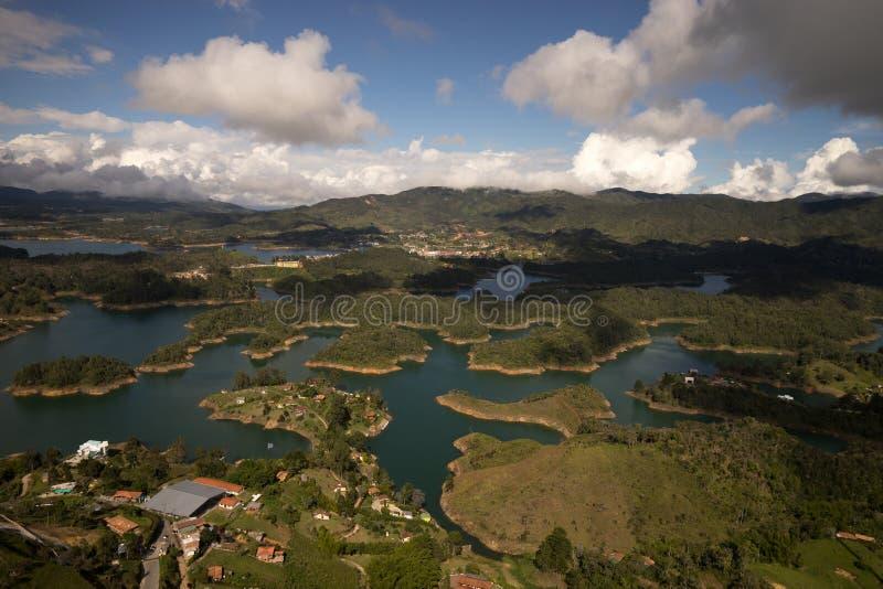 Guatape湖在哥伦比亚 免版税库存图片