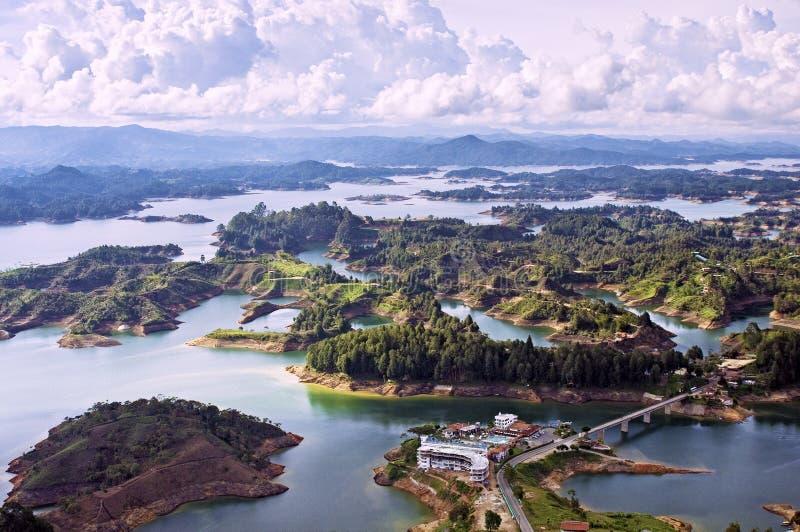 Guatape湖,哥伦比亚 免版税图库摄影