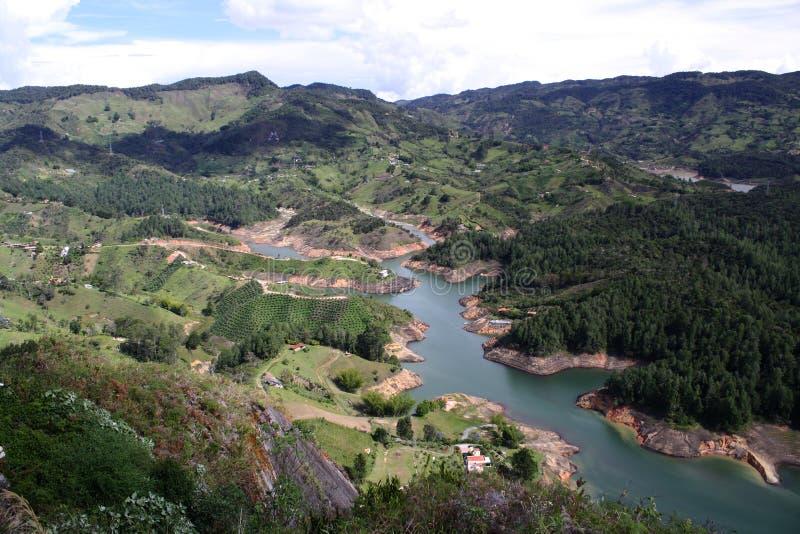Guatape湖-哥伦比亚 免版税库存照片