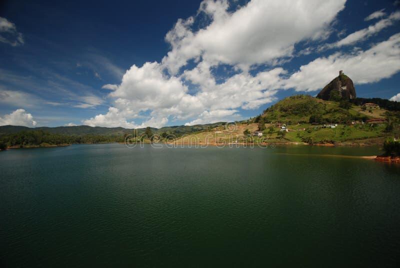 guatape湖 免版税库存图片