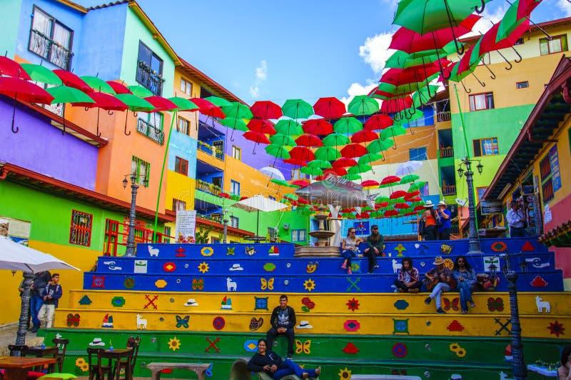 Guatape в Medellin, Antioquia, Колумбии стоковая фотография