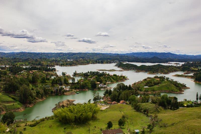 GUATAPE ANTIOQUIA COLOMBIA, JUNI 2014 royalty-vrije stock afbeelding
