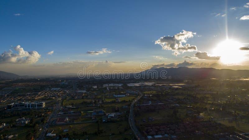 Guatavitass-Landschaft stockbild