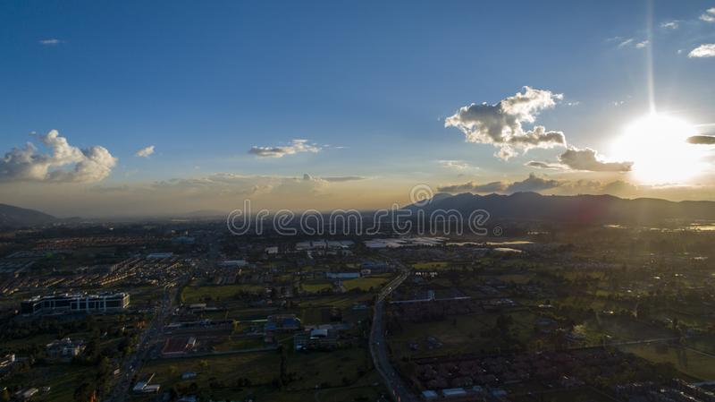 Guatavitass landskap fotografering för bildbyråer