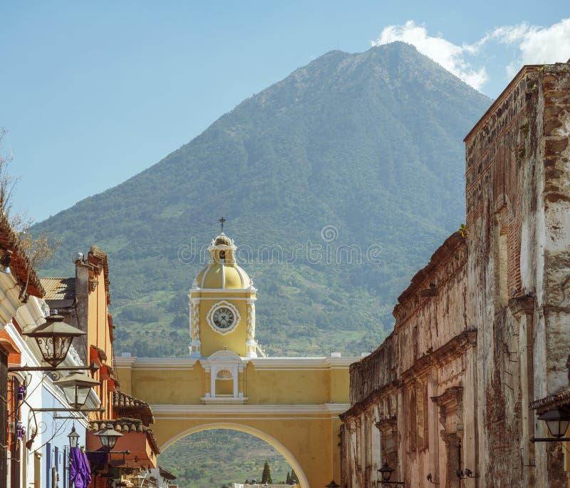 Guatemala de Volcan De Água Antígua fotografia de stock
