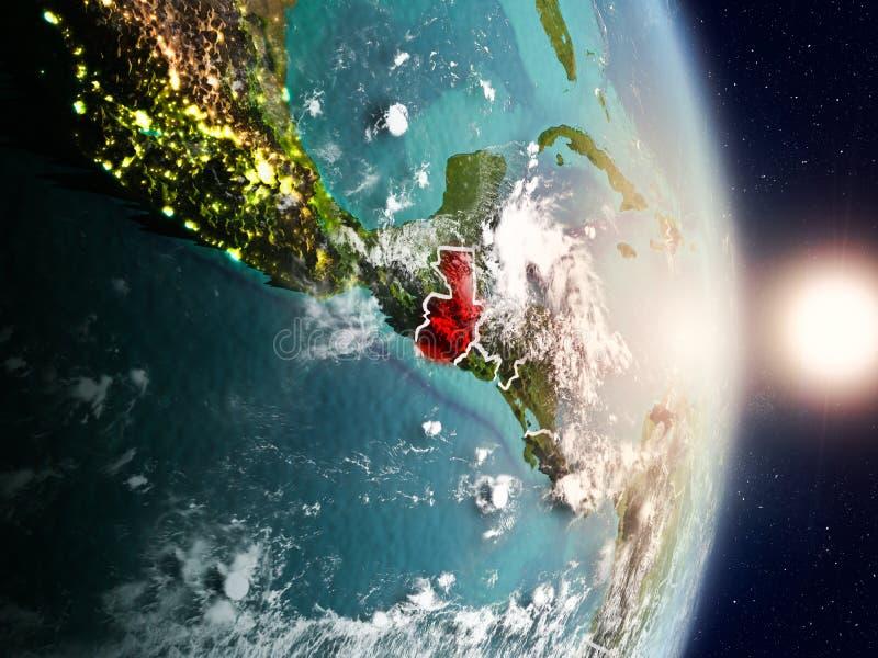 Guatemala durante salida del sol fotos de archivo