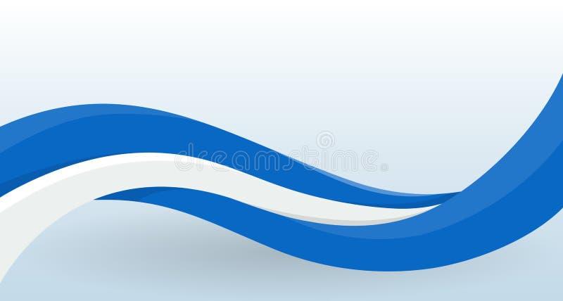 Guatemala, Honduras, Nicaragua, Salvador Waving National flag. Modern unusual shape. Design template for decoration of stock illustration