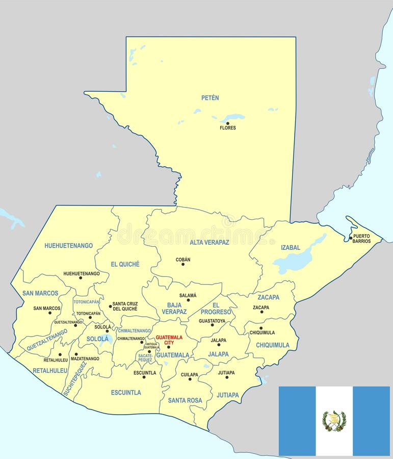 Guatemala map - cdr format stock vector. Illustration of ...