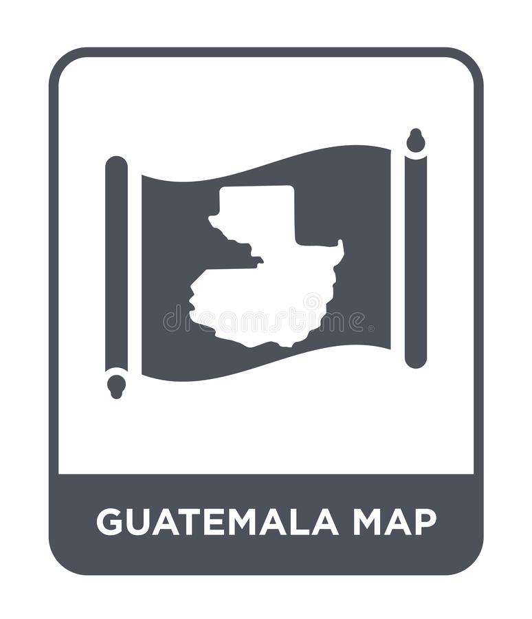 Guatemala map icon in trendy design style. guatemala map icon isolated on white background. guatemala map vector icon simple and. Modern flat symbol for web stock illustration