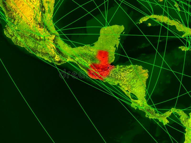 Guatemala no mapa digital ilustração do vetor