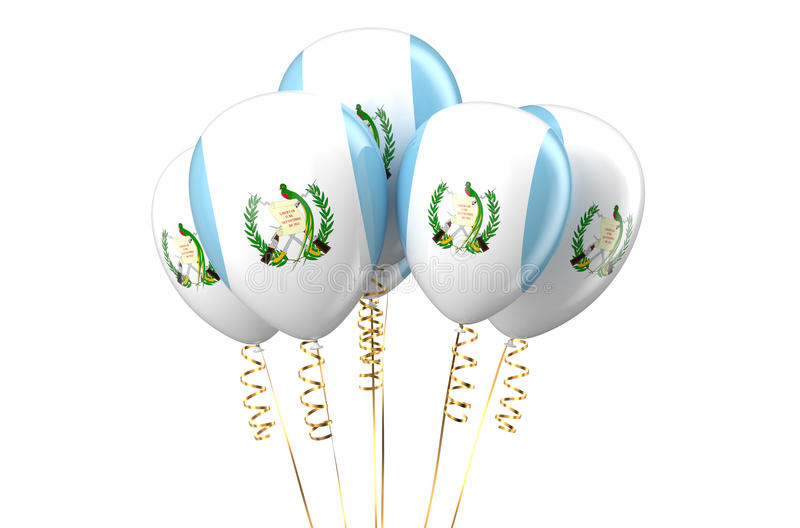 Guatemala patriotic balloons, holyday concept. Isolated on white background vector illustration