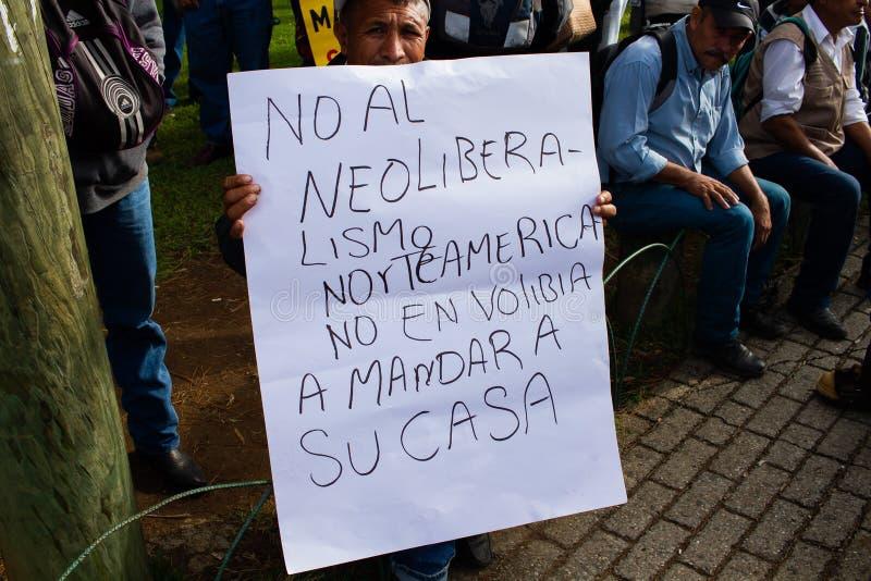 Guatemala Protest ballingschap van Evo Morales en situatie in Bolivia royalty-vrije stock fotografie