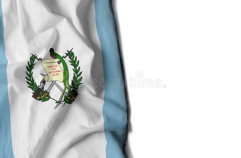 Guatemala rynkade flaggan, utrymme för text royaltyfri fotografi