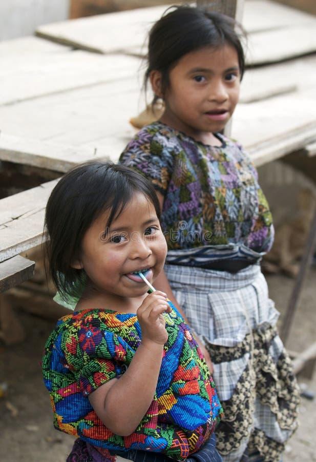 Guatemalaanse Meisjes royalty-vrije stock foto