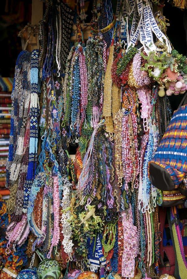 Guatemalan Beadwork. Beadwork in a market in Antigua, Guatemala royalty free stock photos