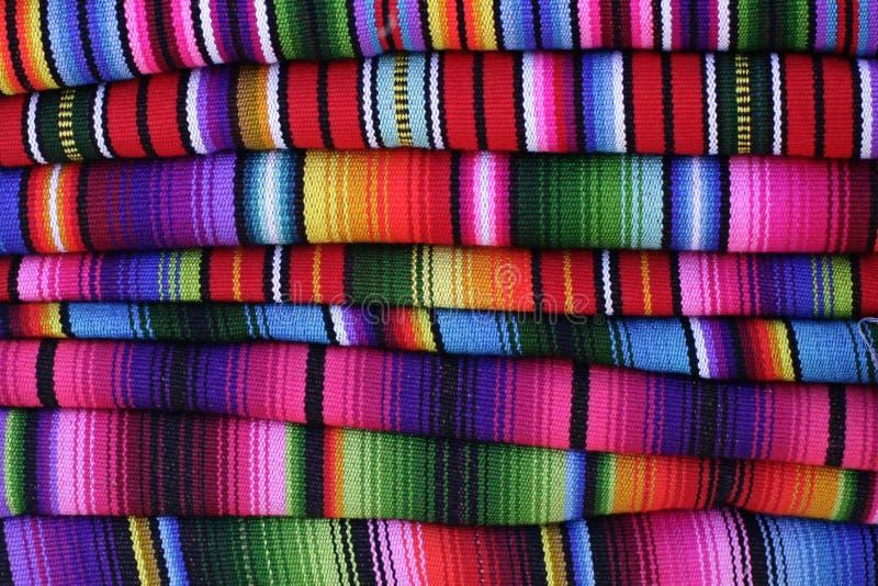 Guatemalan hand-vävde filtar royaltyfri fotografi