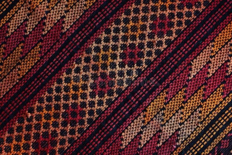 Guatemalan woven fabric. Close-up on striped woven fabric from Guatemala royalty free stock photo