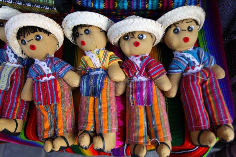 guatemalanskt bekymmer för dockor arkivbild