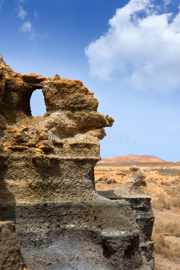 Guatiza teguisstenar vulkaniska Lanzarote royaltyfria foton