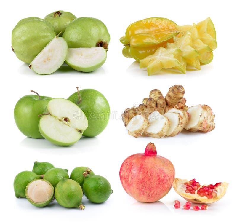 Guava, яблоко звезды, яблоко, макадамия, артишок Иерусалима, pomegr стоковые изображения