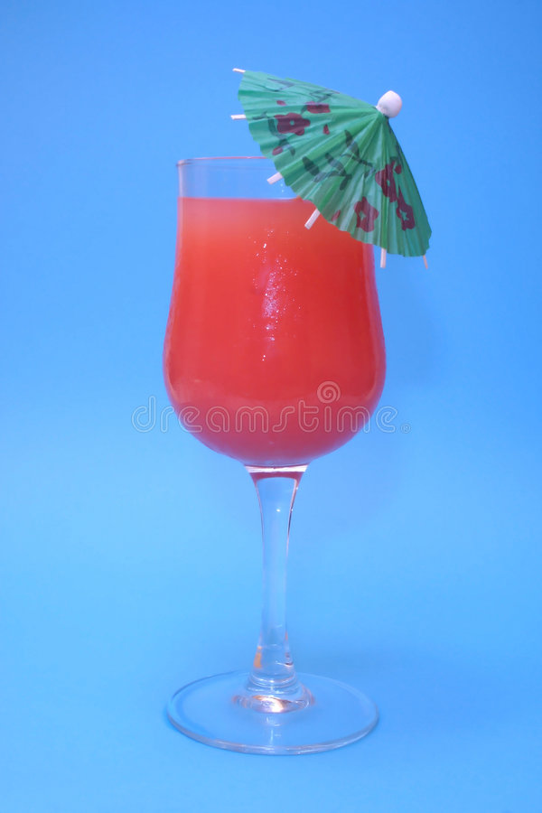 Guava Juice With Umbrella royalty free stock image