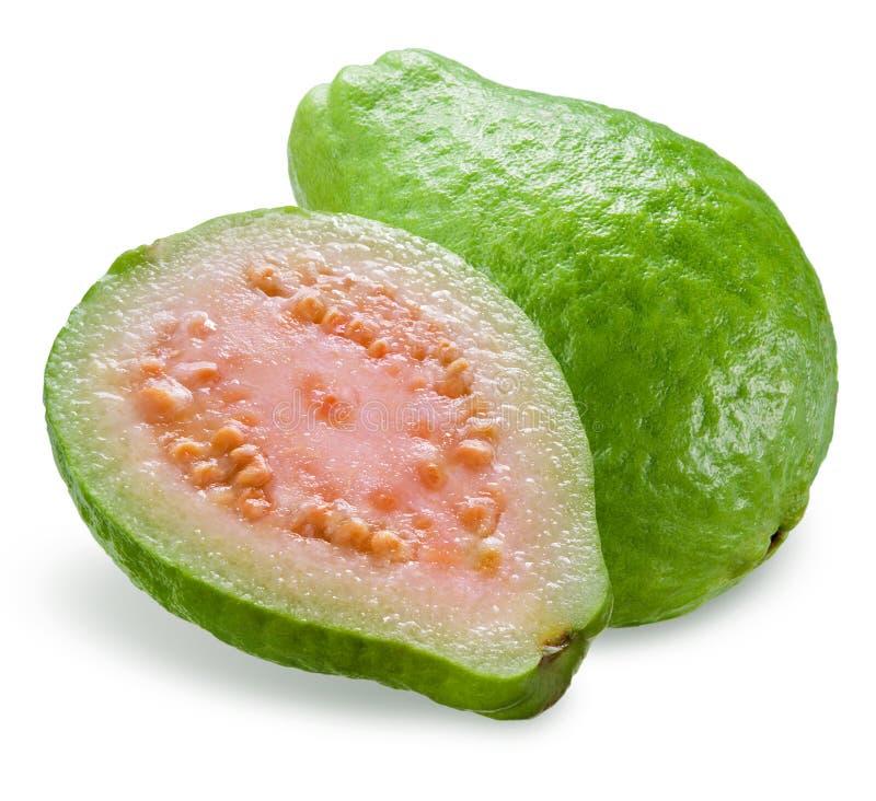Download Guava Med En Halva Som Isoleras På Vit Arkivfoto - Bild av snitt, rått: 37344430