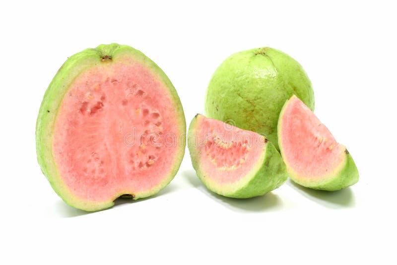 Guava owoc Å›wieży BiaÅ'y tÅ'o zdjęcia royalty free