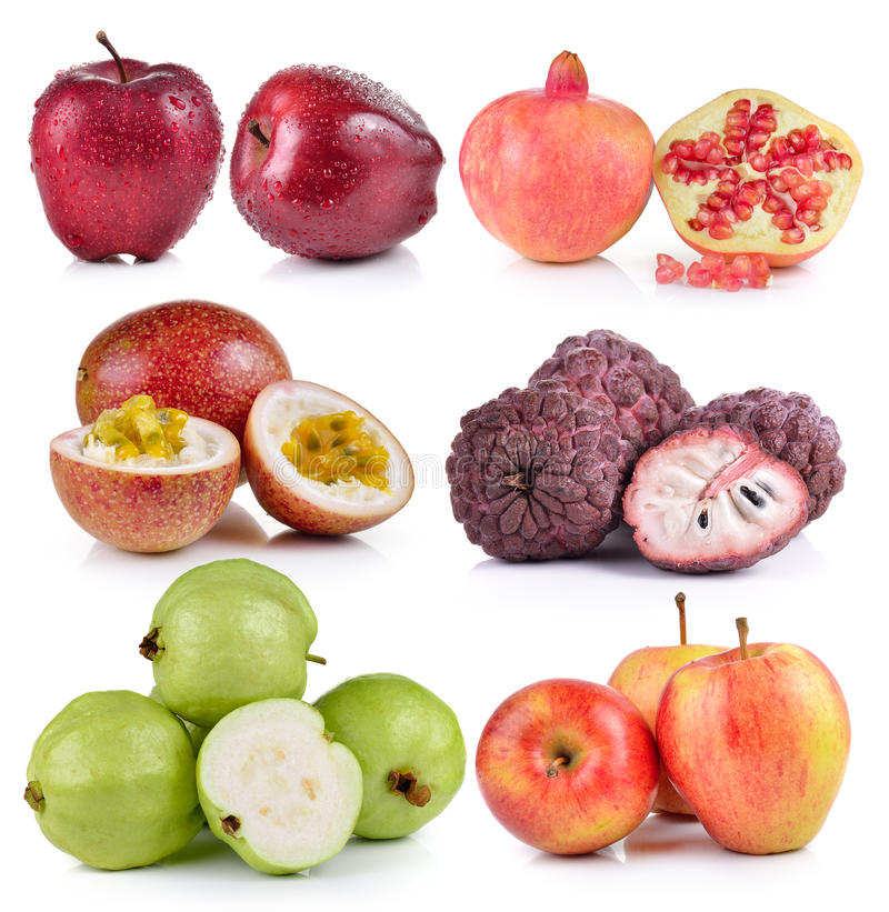 Guave, Apfel, Annone, Maracuja, Granatäpfel lizenzfreie stockbilder