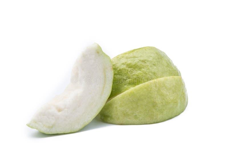 Guave die op Witte achtergrond wordt geïsoleerd royalty-vrije stock afbeeldingen