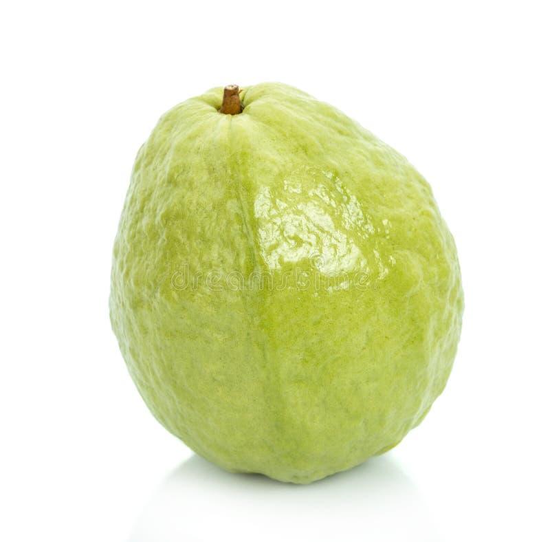 Guave op witte Guaven wordt geïsoleerd die als achtergrond stock fotografie