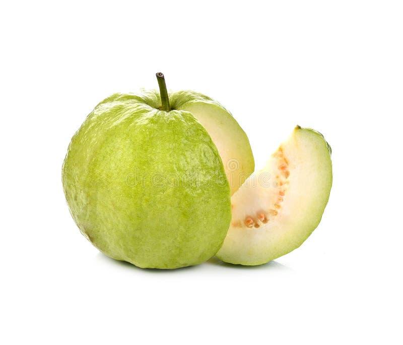 Guavenfruit op witte achtergrond stock fotografie