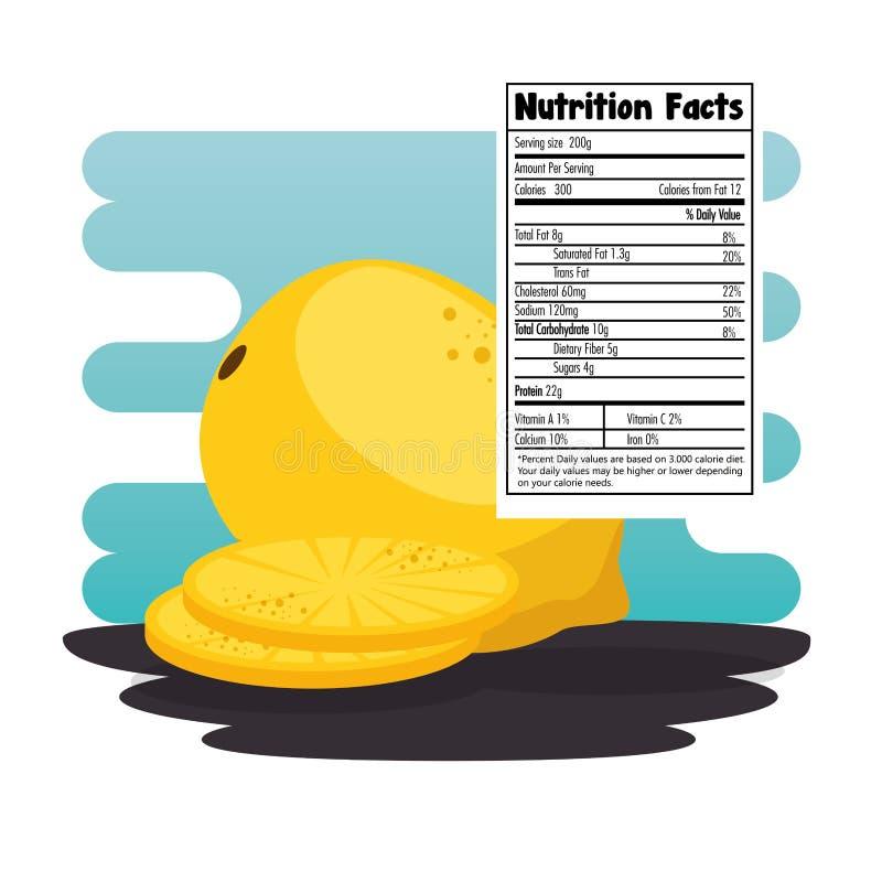Guayaba con hechos de la nutrición stock de ilustración