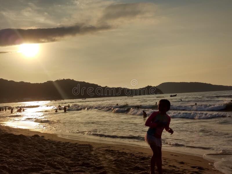 Guayabitos strand royaltyfria bilder